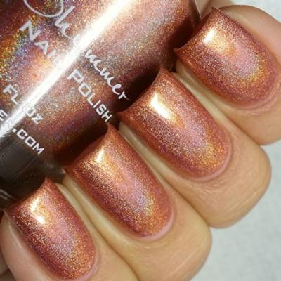 Run! It's The Coppers! Holographic Nail Polish- 0.5 oz Full Sized Bottle