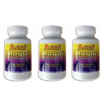 Eden Pond Acai Maqui Weight Loss Pills,60 Capsules, 3 Count