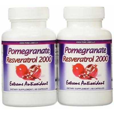 Eden Pond Pomegranate Resveratrol Fat Burner, 60 Capsules, 2 Count