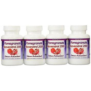Eden Pond Pomegranate Resveratrol Fat Burner,60 Capsules, 4 Count