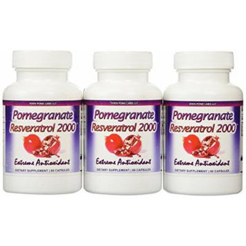 Eden Pond Pomegranate Resveratrol Fat Burner,60 Capsules, 3 Count