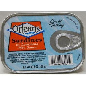 Orleans Sardines in Louisiana Hot Sauce