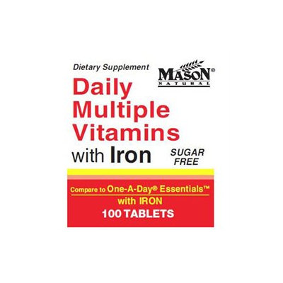 Mason Natural, Daily Multiple Vitamins with Iron, 100 Tablets