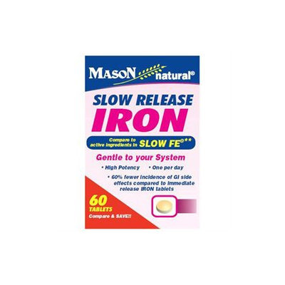 Mason Natural, Slow Release Iron, 60 Tablets