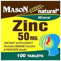Mason Natural, Zinc 50 mg, 100 Tablets