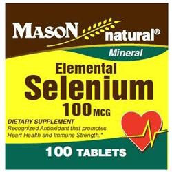 Mason Natural, Selenium 100 mcg, 100 Tablets