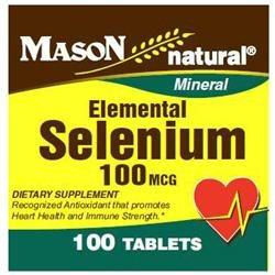 Mason Natural, Selenium 100 mcg, 100 Tablets