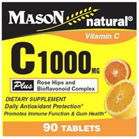 Mason Natural, Vitamin C 1000 mg with Rose Hips & Bioflavonoid Complex, 90 Tablets
