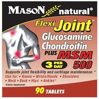 Mason Natural, Flexi-Joint Glucosamine Chondroitin Plus MSM 500, 90 Tablets