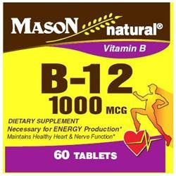 Mason Natural, Vitamin B-12 1000 mcg, 60 Tablets