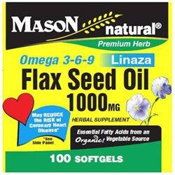 Mason Natural, Flax Seed Oil 1000 mg, 100 Softgels