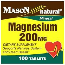 Mason Natural, Magnesium 200 mg, 100 Tablets