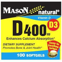 Mason Natural, Vitamin D 400 IU, 100 Softgels
