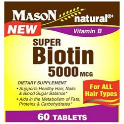 Mason Natural, Super Biotin 5000 mcg, 60 Tablets