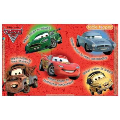 Neat Solutions Biodegradable Table Topper Disposable Stick-on Placemat, Cars - 30 Count