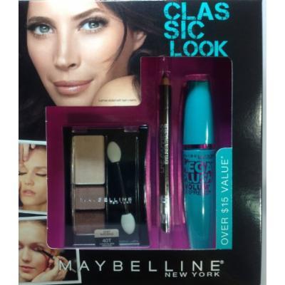 Maybelline Classic Look Mega Plush Mascara + Eyeliner + Eyeshadow SET