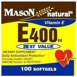 Mason Natural, Vitamin E 400 IU, 100 Softgels