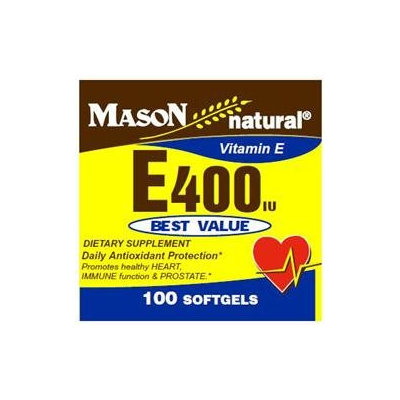 Mason Natural, Vitamin E 400 IU, 100 Softgels