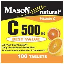 Mason Natural, Vitamin C 500 mg, 100 Tablets