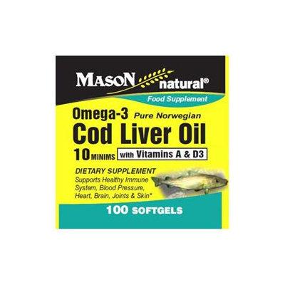 Mason Natural, Cod Liver Oil 10 Minims, 100 Softgels