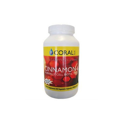 Herbal Pride Coral LLC Cinnamon 6 - 243 Vegetable Capsules