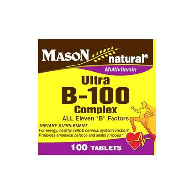 Mason Vitamins Ultra B-100 Complex tabs, 100 ct Bottle