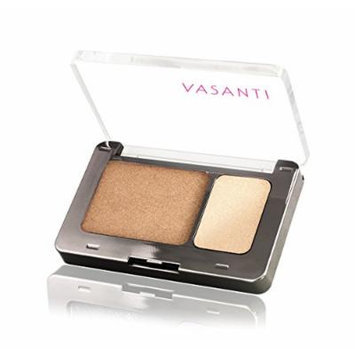 Vasanti Silky Eyeshadow Duo - Paraben Free (The Sahara - Metallic Bronze / White Gold)