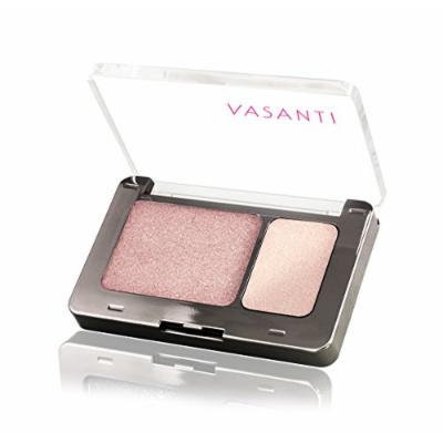 Vasanti Silky Eyeshadow Duo - Paraben Free (Taj Mahal - Metallic Opal / Luminescent Cream)
