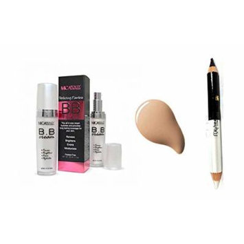 Mica Beauty Bb Cream+ Eyeliner Duo Pencil Assorted Colors (Bundle of 2 Items) (Light)