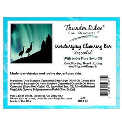 Unscented Bar Soap 3.75oz bars of soap by Thunder Ridge
