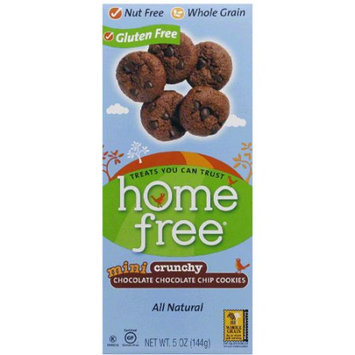 HomeFree Gluten Free Mini Crunchy Double Chocolate Chip Cookies, 5 oz, (Pack of 6)