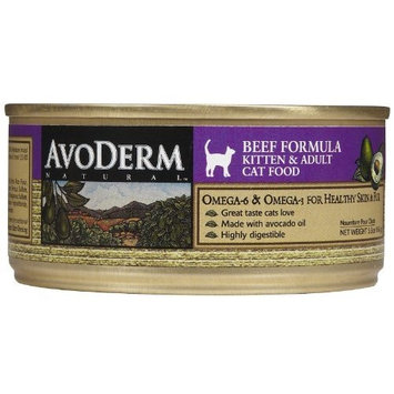 Avoderm Canned Cat Food Beef, Beef 5.5 oz