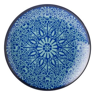 Threshold Coastal Melamine Appetizer Plate Set of 4 - Blue