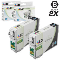 LD Remanufactured Replacement for Epson T079 Set of 2 Black High Yield Ink Cartridges Includes: 2 T079120 Black for use in Artisan 1430, and Stylus Photo 1400 Printers