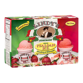 Lindy's Homemade Premium Italian Ice Strawberry & Watermelon - 6 CT