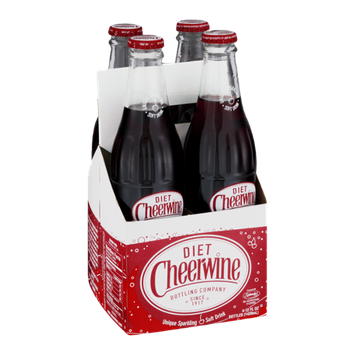 Cheerwine Diet Unique Sparking Soft Drink - 4 CT