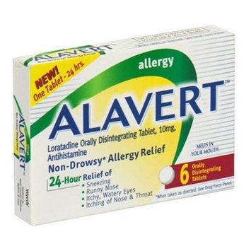 Alavert Allergy 24-Hour Relief, Fast Dissolving Tablets - 6 ea