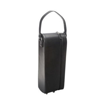 Amerileather - Leather Single Wine Case Holder - Black