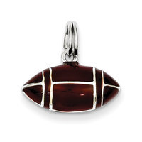 Recaro North goldia Sterling Silver 3D Brown Enameled Football