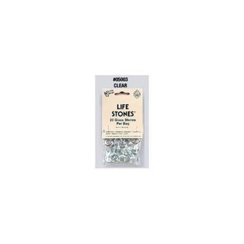 Koplow Games Clear Glass Gaming Stones 20ct