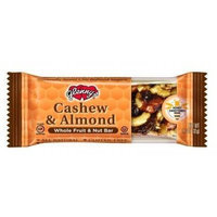 Glenny's Cashew and Almond Whole Fruit and Nut Bar, 1.1-Ounce (Pack of 12)