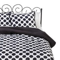 Xhilaration Dot Comforter Set - Black/White (Full/Queen)