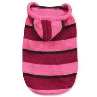 Zack & Zoey Striped Knit Pet Sweatshirt Hoodie - Pink