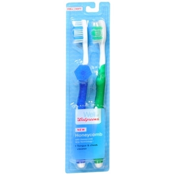 Walgreens Honeycomb Toothbrushes, Full/Soft, 2 ea