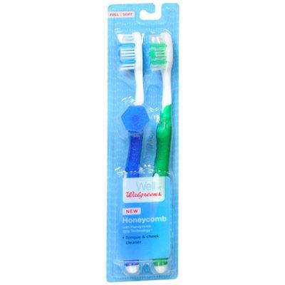 Walgreens Honeycomb Toothbrushes, Full/Soft, 2 ea