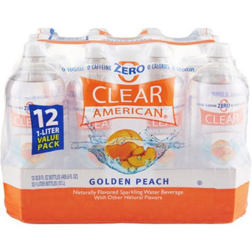 Clear American Golden Peach Sparkling Water, 1 l, 12ct
