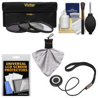 Vivitar Essentials Bundle for Sony Alpha A-Mount 100mm f/2.8 Macro Lens with 3 (UV/CPL/ND8) Filters + Accessory Kit