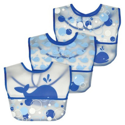 Green Sprouts Waterproof Pocket Bib -Whales (3 Pack)