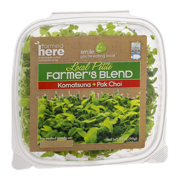 FarmedHere Local Petite Farmer's Blend Komatsuna + Pak Choi