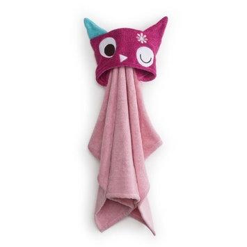Zutano Owls Critter Towel, Pink